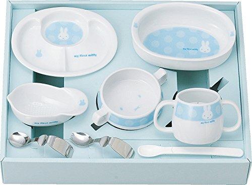 金正陶器 406751 my First miffy ベビー食器セット(ブルー)/4964412406514