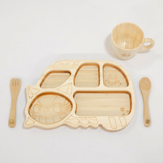 ねこバスプレート & トトロマグカップ セット FGBL-03-001 / FUNFAM / 出産祝い 離乳食 ファンファン 食器セット 男の子 女の子 日本製 トトロ ネコバス / 4562364810207