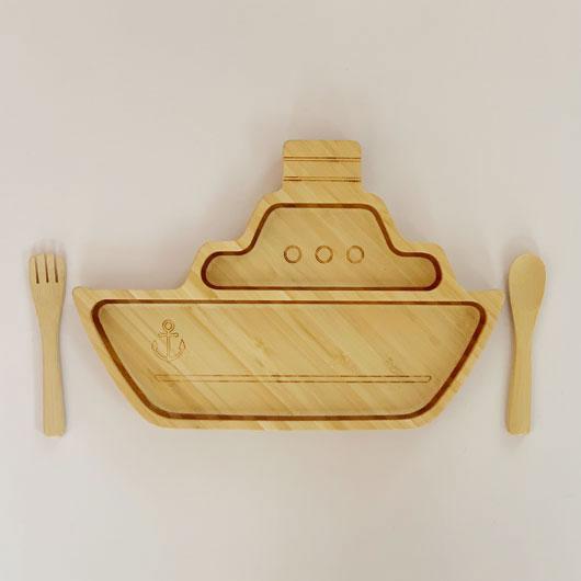 シッププレートセット FUN2019-03 / FUNFAM / 出産祝い 離乳食 ファンファン 食器セット 男の子 女の子 日本製 / 4562364816162