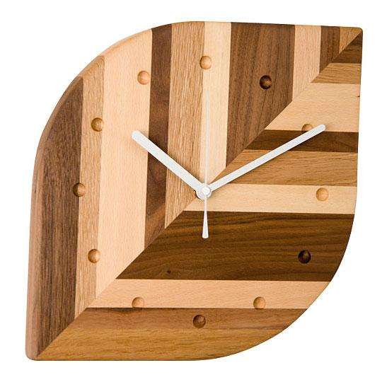 4382786/ウォールクロック 葉っぱ モザイク / PL1TIM-0160260-MXOL / HIDAKAGU / 掛け時計 木製 おしゃれ アナログ