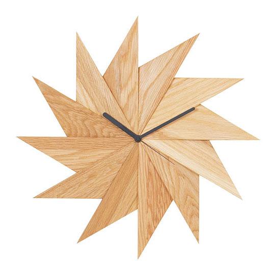 4383721/ウォールクロック 風 オーク / PL1TIM-0030414-OAOL / HIDAKAGU / 掛け時計 木製 おしゃれ