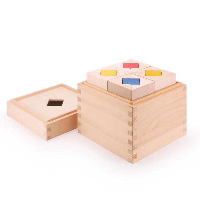 マストロ・ジェッペット 【 積み木:CUBICOLO TRIANGOLO(クビコロ/トリアンゴロ) / MGWTBL03 】 1歳~ 木製 キッズ・ベビー おもちゃ 積み木