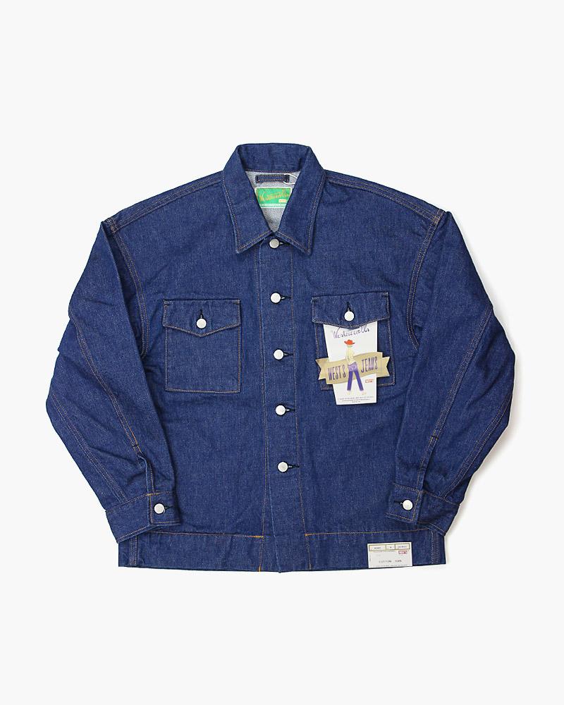 ウエストオーバーオールズ デニムトラックシャツ 新作 858B WESTOVERALLS SHIRT 通信販売 TRACK DENIM