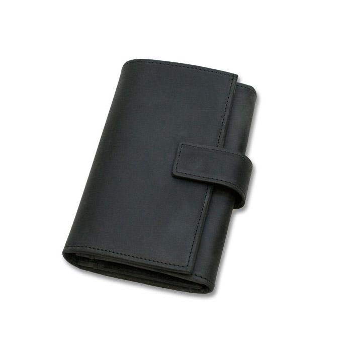 セトラー 三つ折り財布 SETTLER OW9696 ZIP COIN PURSE WITH TAB ブラック