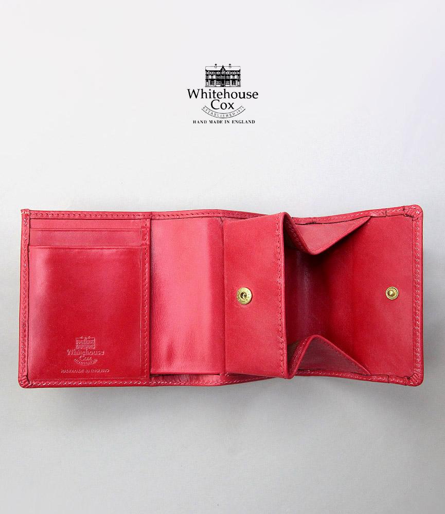 ホワイトハウスコックス コンパクトウォレット WhitehouseCox S1975 COMPACT WALLET RED レッド