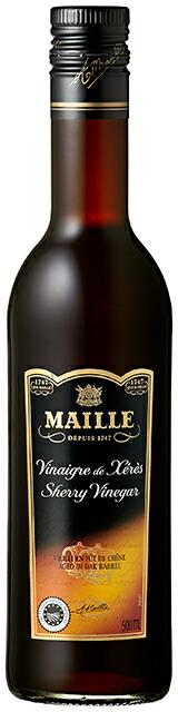 こだわりのシェリー酒から作ったまろやかな味わいのビネガー【ブドウ酢】 マイユ シェリー酒ビネガーMAILLE SHERRY VINEGAR