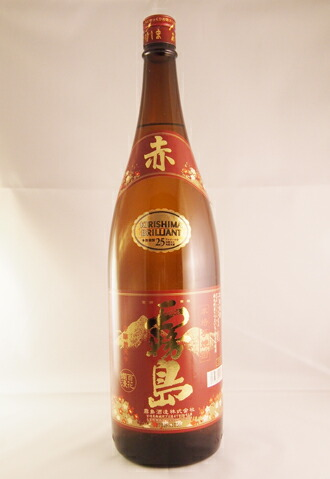 【6本セット】送料無料! 本格芋焼酎 赤霧島 一升瓶 25度 AKAKIRISHIMA Japanese Spirit SHOCHU