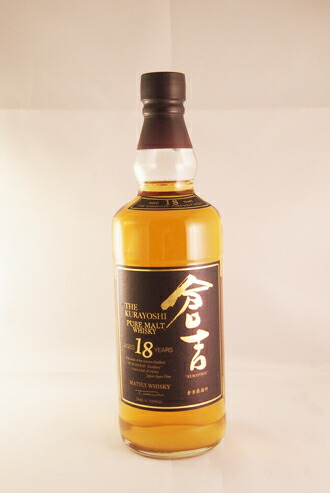 マツイ ピュアモルトウイスキー 倉吉 18年 50度  THE KURAYOSHI PURE MALT WHISKY AGED 18 YEARS KURAYOSHI Distillery SINCE 1910 YEAR