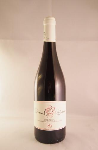 イタリアで最も古いブドウ品種の一つであるガリオッポ種100%のビオワイン 赤ワイン 情熱セール ミディアムボディ カンティーネ デ ルーカ ドンナ カテリーナ チロ ロッソ CATERINA Luca De ROSSO Cantine 国内送料無料 DOC DONNA Ciro