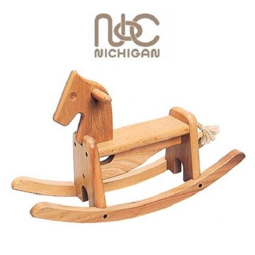 ニチガン エルムの木馬 EL100 【国内正規品】乗用玩具 うま 木製おもちゃ
