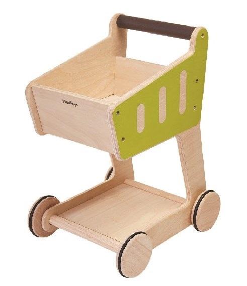 プラントイ PLANTOYS ショッピングカート 3481 木のおもちゃ 知育玩具 ままごと