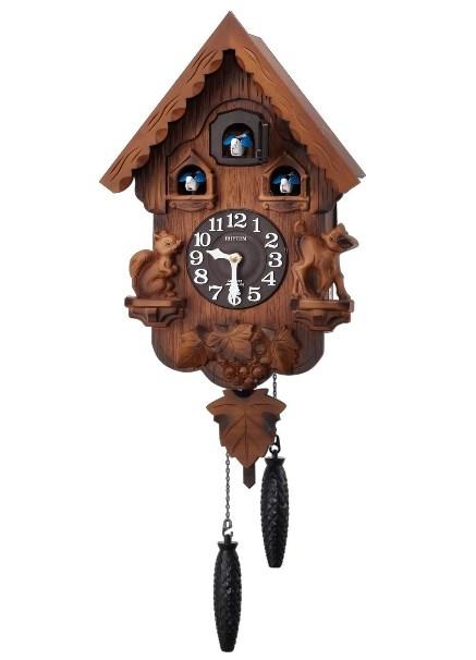 壁掛け 鳩時計 カッコーパンキーR 4MJ221RH06 リズム時計 RHYTHM
