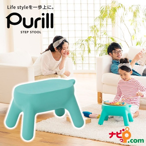 Purill プリル PRL1.0-1BU 長谷川工業(HASEGAWA) ステップスツール ミントブルー 【送料無料】