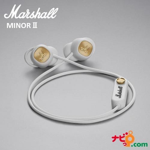 Marshall マーシャル ワイヤレスイヤホン MINOR II Bluetooth ホワイト ZMH-04092261