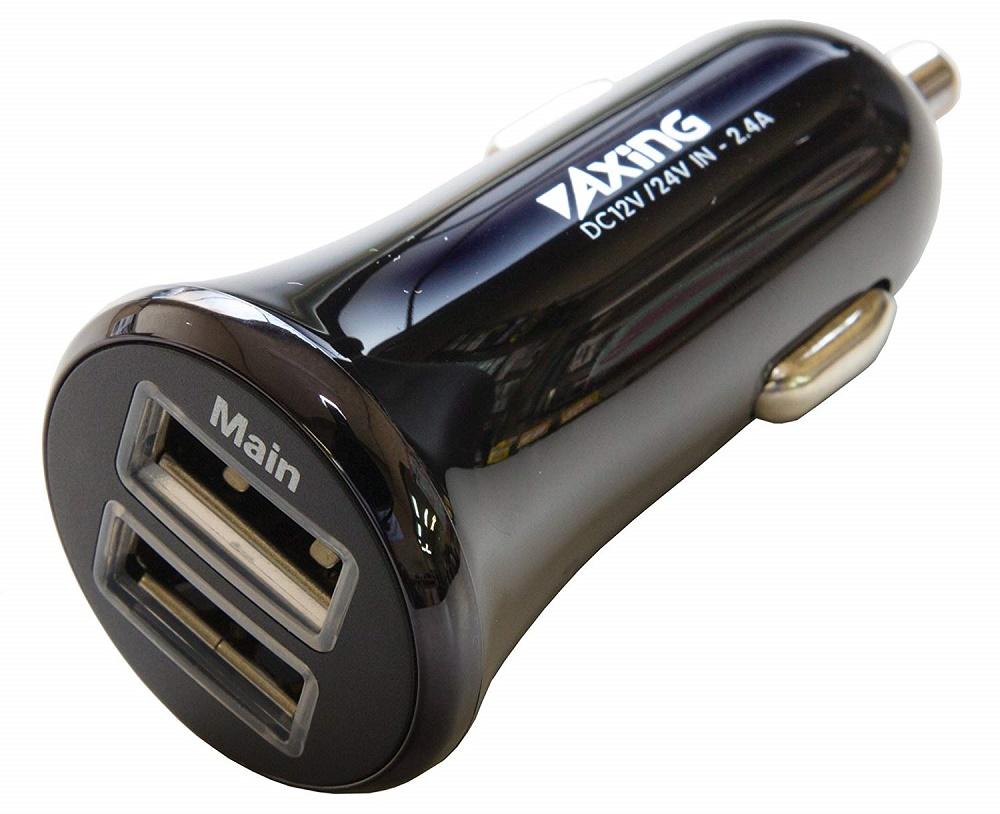 カーチャージャー 車載充電器 USB 2ポート 2.4A【送料無料】
