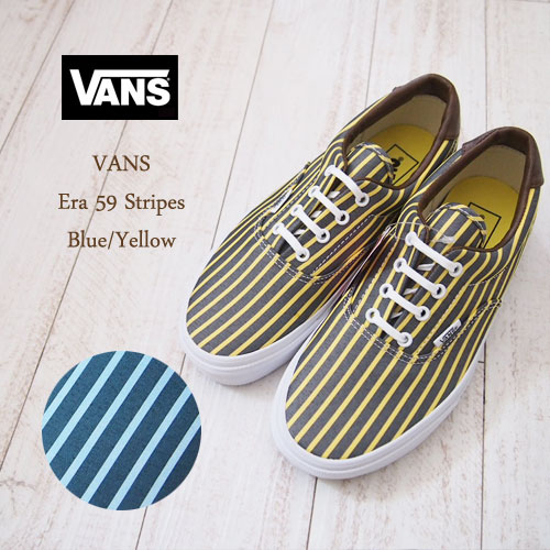 281333b1cd NAVIE  Vans vans ERA 59 STRIPES Ella stripe  YELLOW BLUE