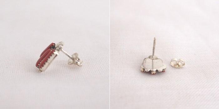 10%的折扣 ♪ 印度傑瑞鋅針尖迷你耳環印度珠寶念耳環