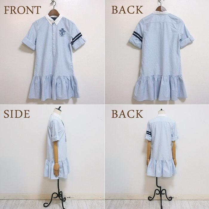 3c2467f90d929 ... Ralph Lauren Polo kids girls Oxford emblem shirt dress / blue Hickory  POLO by Ralph Lauren ...