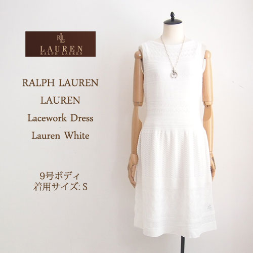 Ralph Lauren Lace Crochet Knit White