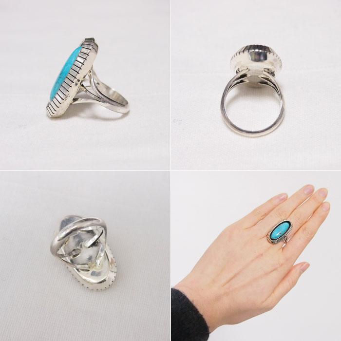 納瓦霍純銀銀影盒綠松石環印度珠寶綠松石純銀戒指
