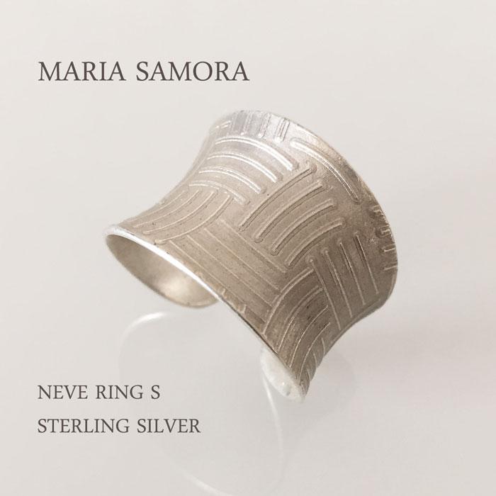 マリア サモラ シルバーリング MARIA SAMORA NEVE RING S STERLING SILVER