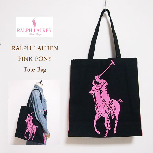 Product Details Ralph Lauren Pink Pony Is Cotton Tote Bag