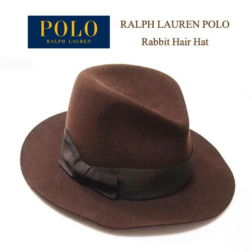ラルフローレン ポロ イタリア製 中折れ フェルト ハット/ブラウンPOLO by Ralph Lauren Hat