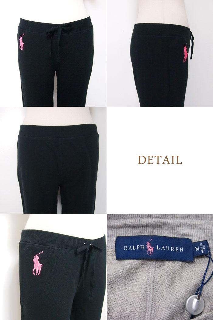 拉尔夫劳伦马球粉红矮种马女士运动衫裤子/黑色/灰色POLO by Ralph Lauren PINK PONY