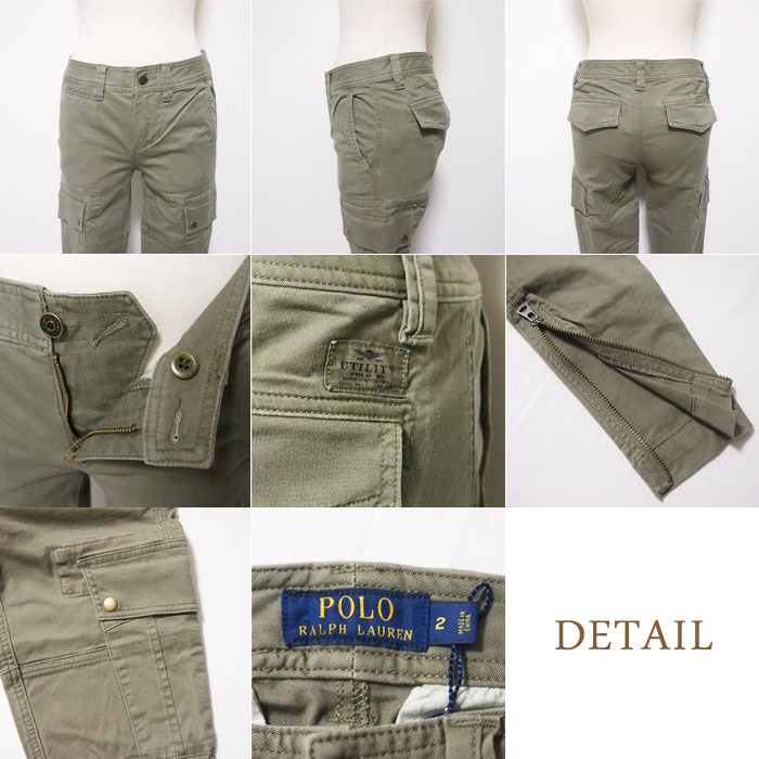 a9559e28 ... Ralph Lauren Polo Womens skinny stretch cargo pants, Khaki / beige /  grey POLO by ...