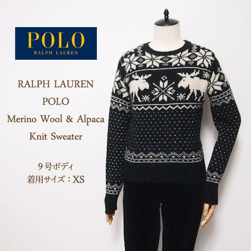 Navie Ralph Lauren Polo Womens Nordic Pattern Merino Wool Alpaca