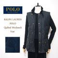 ラルフローレン ポロ レディース ハイネック キルティング ベスト/ブラックPOLO by Ralph Lauren Vest