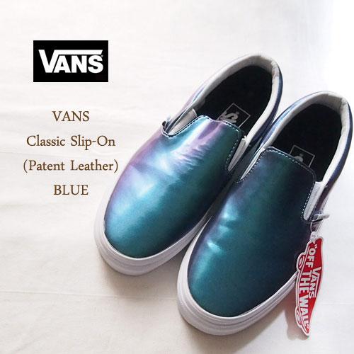 vans leather blue