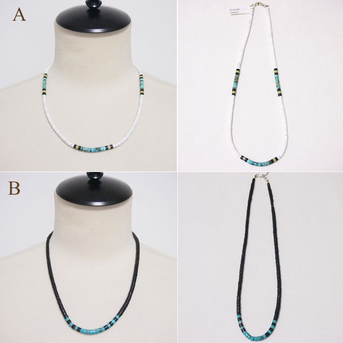 """Sterling Silver Santo Domingo """"DONOVAN CRESPIN"""" chestnut necklace INDIAN JEWELRY SANT DOMINGO Necklace"""