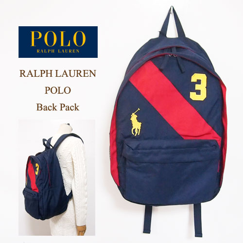From Ralph Lauren is the backpack. Seems simple and Ralph Lauren design  with diagonal stripes 146416075358c