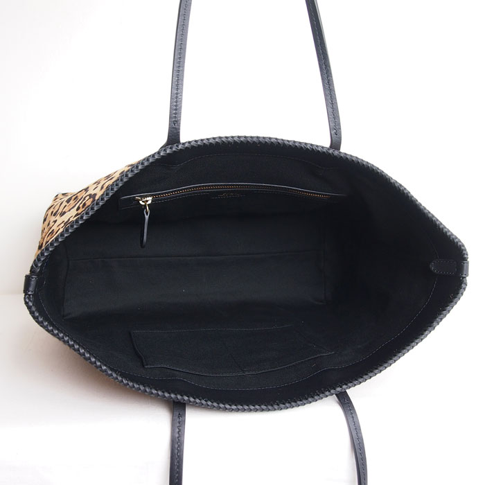 8218e08bd238 Ralph Lauren polo Lady s leather animal pattern tote bag   black POLO by Ralph  Lauren Bag