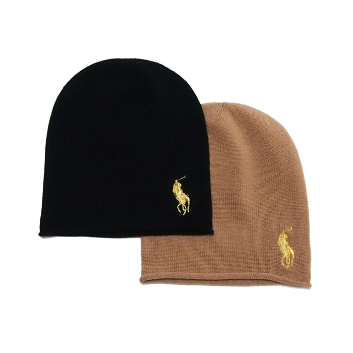 b9ea1e16c7f NAVIE  Ralph Lauren Polo pony one point embroidered knit CAP