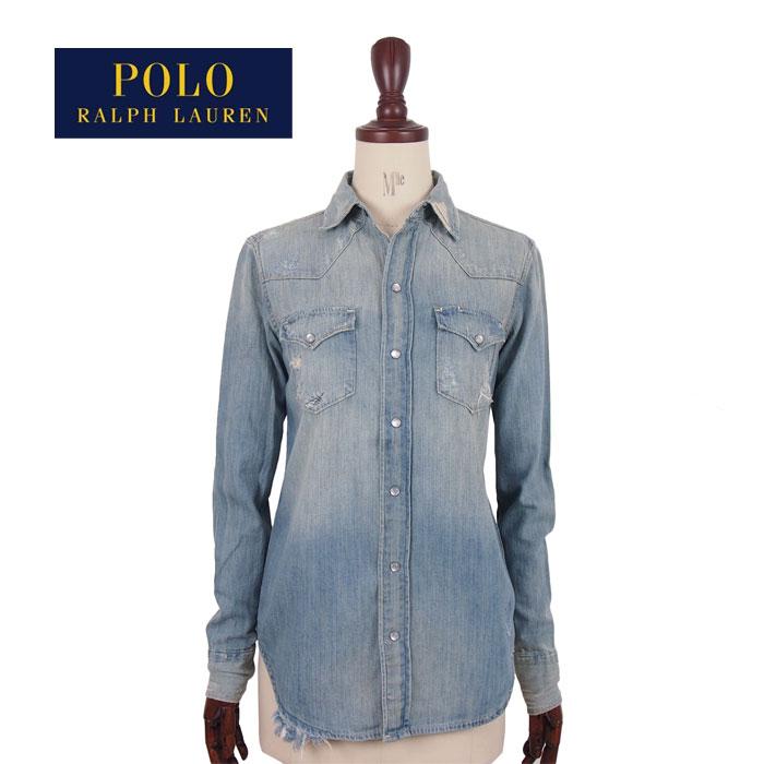 17f852207 Ralph Lauren Polo Womens damaged denim shirt and light blue POLO by Ralph  Lauren Denim Shirt ...