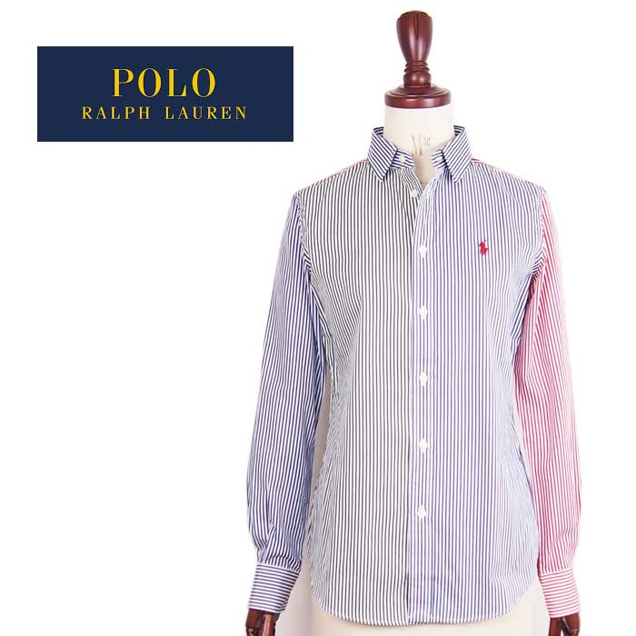 Ralph Lauren Polo Womens pony one point multi-color stripe shirt POLO by Ralph  Lauren Shirt Yu packets available 1621cf9f99