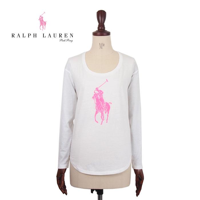 0edcd637de34 Ralph Lauren Polo Pink Pony Womens pony Pima cotton long sleeve shirt white    black POLO by Ralph Lauren PINK PONY