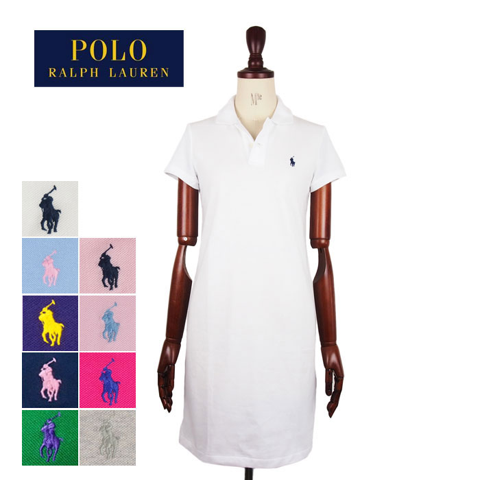 Ralph Lauren Polo Womens pony embroidered mesh mini Provan one-piece black / green POLO by Ralph Lauren THE MESH MINI Polo Dress