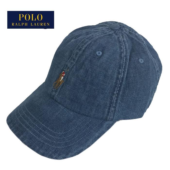 ポロ ラルフローレン メンズ レディース キャップ ポニー ワンポイント 帽子 ウォッシュ デニム POLO Ralph Lauren Cap 男性用 女性用