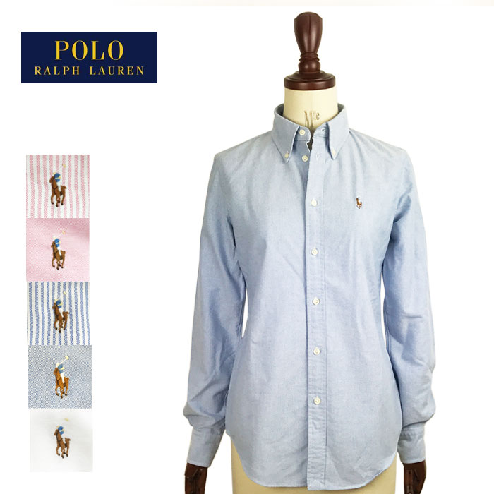 6c8cf2118 Ralph Lauren Womens custom fit Oxford button-down shirt and white Ralph  Lauren Oxford Shirts ...