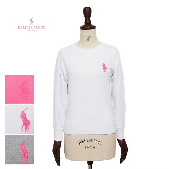 Ralph Lauren pink pony polo Lady\u0027s sweat shirt pullover trainer PINK PONY  by Ralph Lauren