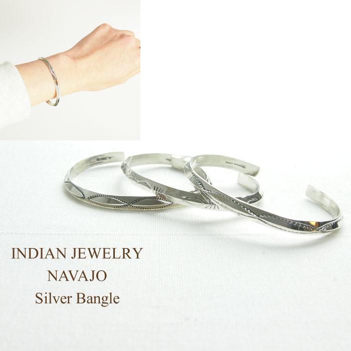 インディアンジュエリー シルバー バングル ナバホ スタンプ NAVAJO Silver 新作 JEWELRY バングルINDIAN Bangleメール便可 ショップ