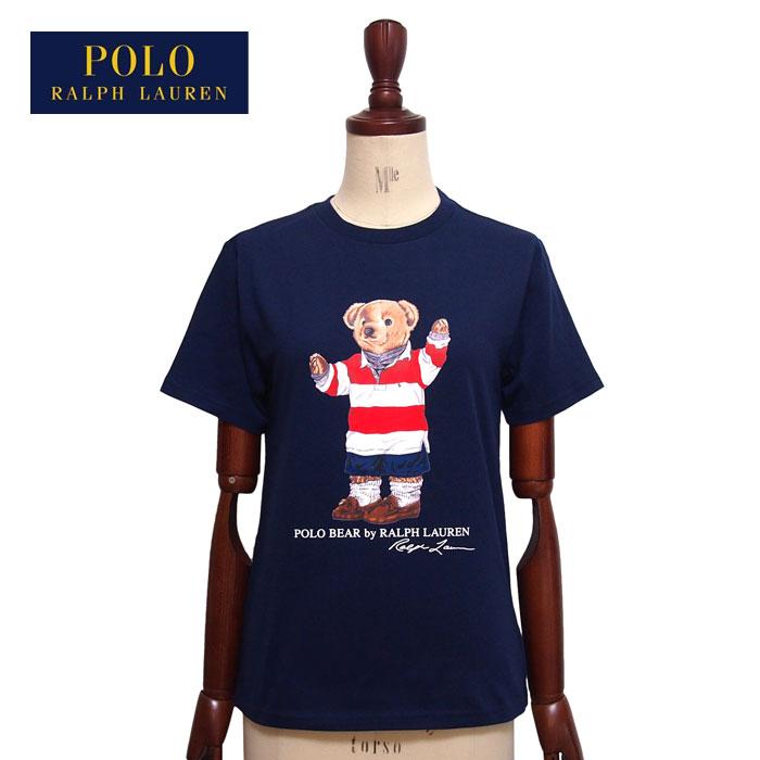 cf71b45e15ab2 ラルフローレンポロボーイズポロベアーラガーシャツスタイルクルーネックTシャツ ネイビーPOLORalphLauren