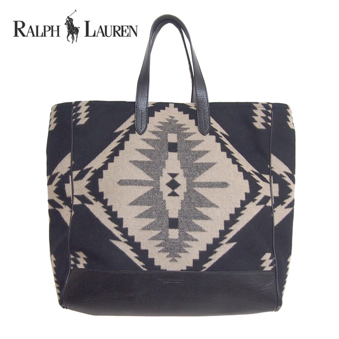 ◇Product explanation◇ It is the arrival of the bag than Ralph Lauren. Tote  bag of a native pattern and the leather. e7610b5411e68