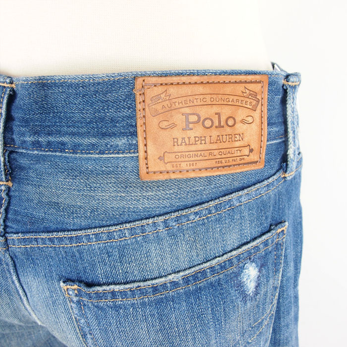 4ccee898cd958 Ralph Lauren polo Lady s damage patchwork slim boyfriend jeans   indigo  blue POLO Ralph Lauren Astor Slim Boyfriend