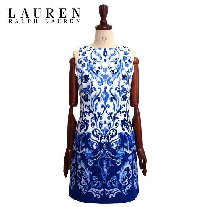 a30e5bb8fa Ralph Lauren women s handwritten print floral sleeveless dress   blue LAUREN  by Ralph Lauren Dress