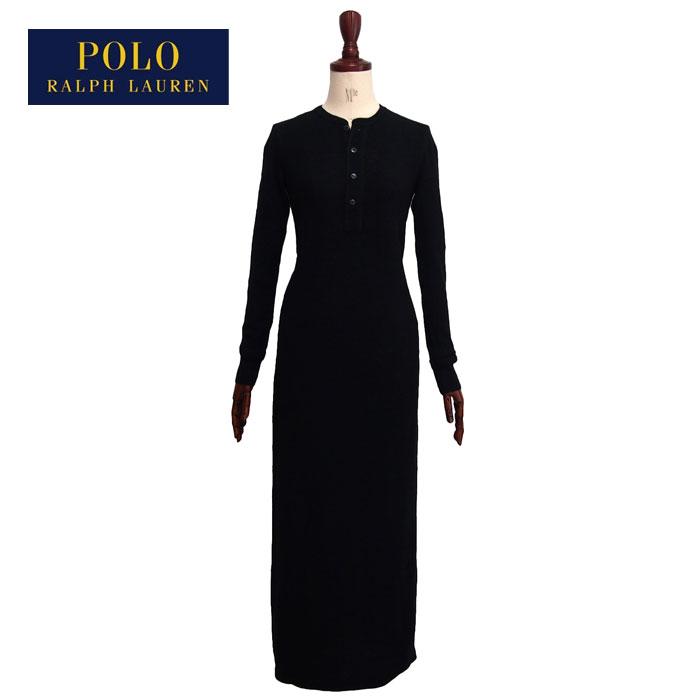 Navie Ralph Lauren Polo Womens Henry Neck Thermal Maxi Dress