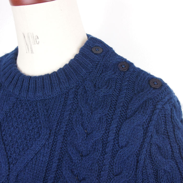 8ad6983657 Ralph Lauren polo Lady s cable knitting knit dress   navy POLO Ralph Lauren
